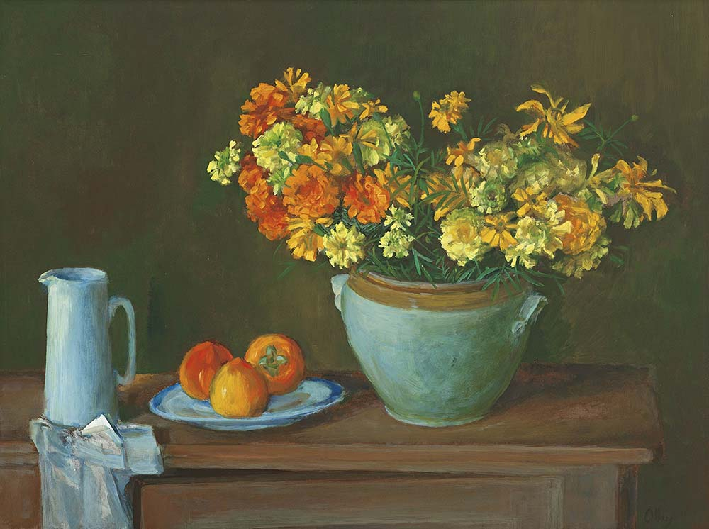Still Life With Marigolds And Persimmons Menzies Art Brands