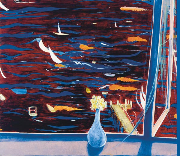 33. BRETT WHITELEY Westerly with Daisies (View of Lavender Bay) 1974 image