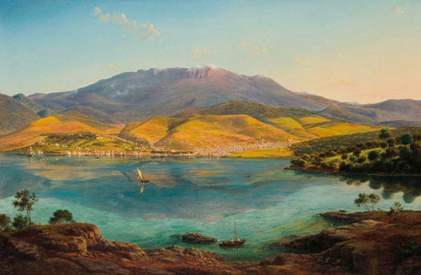 38. EUGENE VON GUERARD View of Hobart Town, with Mount Wellington in the Background 1856 image