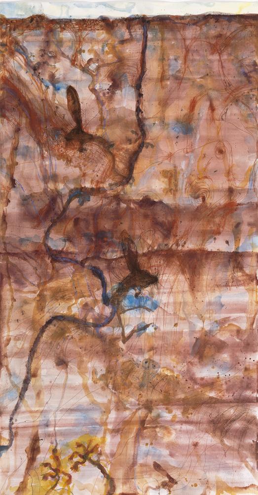 45. JOHN OLSEN Desert Landscape and Marsupial Mice 1998 image