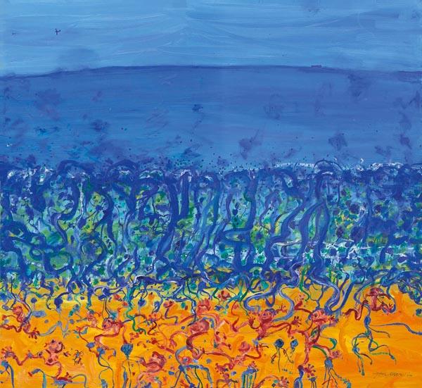 35. JOHN OLSEN Childhood by the Sea, Popping Blue Bottles 2010 image