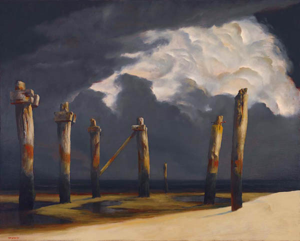 60. RICK AMOR Remnant Pier with a Stormy Sky2005 image