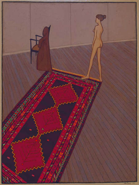 50. JOHN BRACK Nude in Profile (also known as Nude, Rug and Dressing Gown) 1974 image