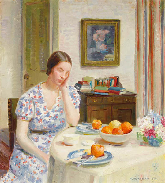 23. NORA HEYSEN Interior with Josephine, London1934 image