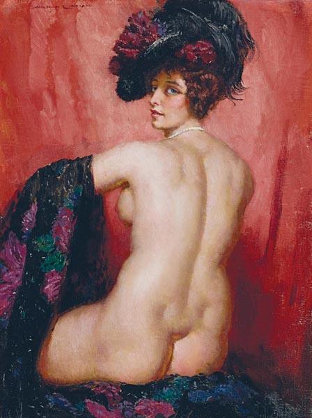 23. NORMAN LINDSAYBack Nude Studyc1940image