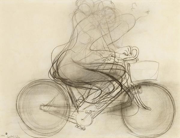 41. BRETT WHITELEY Girl on a Bike 1974 image