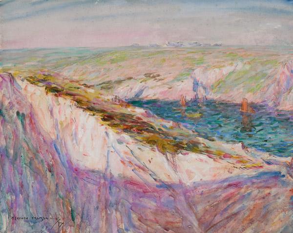 26. JOHN PETER RUSSELL Cliffs at Goulphar Bayimage