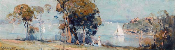 22. ARTHUR STREETON Sunday Morning from Cremorne 1907 image