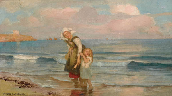 1. RUPERT BUNNYMother and Child on the Beachc1894image