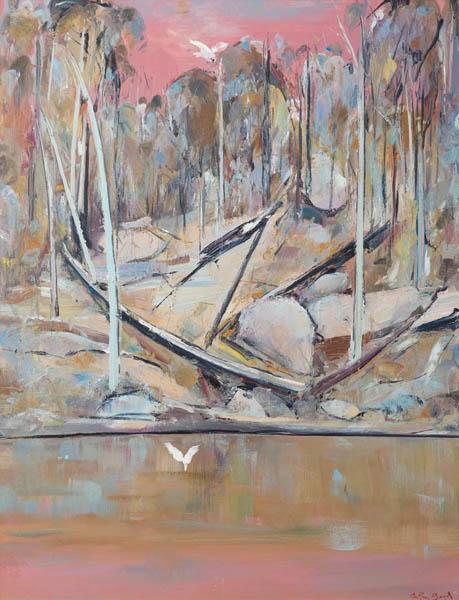 26. ARTHUR BOYD Pink Shoalhaven Landscape image
