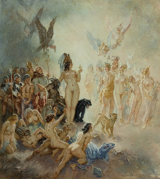 21. NORMAN LINDSAY Passing of the Gods image