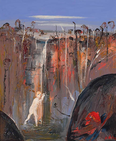 25. ARTHUR BOYD Woman Bathing in a Waterfall (Susanna and the Elders) image
