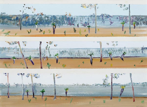 24. FRED WILLIAMS Grass Trees in Landscape, Deception Bay c1971 image