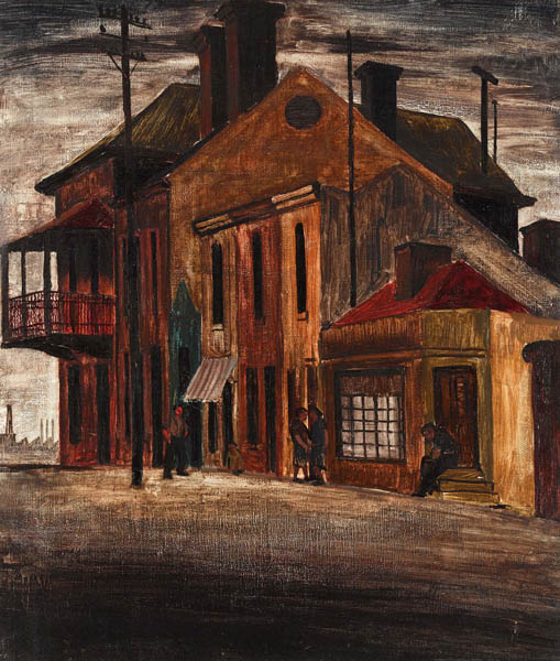 20. JEFFREY SMART Hindley Street at Evening 1943-44 image