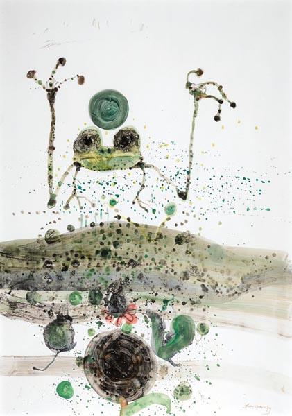 27. JOHN OLSEN Frog in a Pond1979 image
