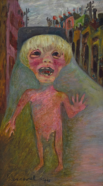 25. JOHN PERCEVAL Boy Crying in a Carlton Street 1944 image