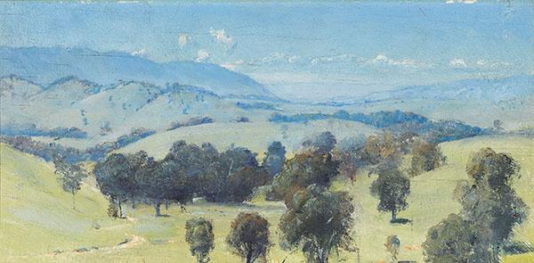 1. TOM ROBERTS Dandenongs Landscape image