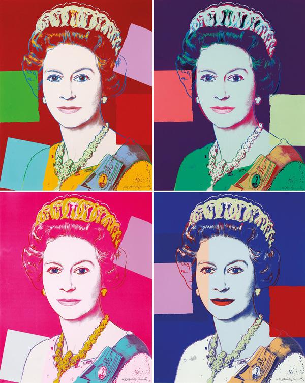 15. ANDY WARHOL Queen Elizabeth II, from Reigning Queens1985 image