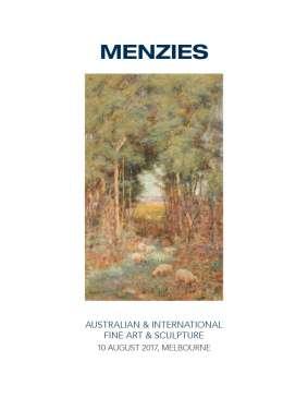 Menzies August 2017 Australian & International Fine Art & Sculpture image