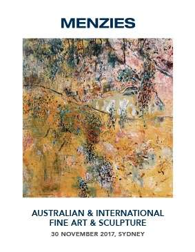 Menzies November 2017 Auction Australian & International Fine Art & Sculpture image