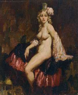 The Showgirl by NORMAN LINDSAY