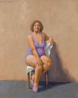 Figure Study for Cathedral Street, Woolloomooloo by JEFFREY SMART