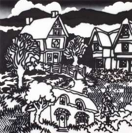 Model Tudor Village, Fitzroy Gardens by HOWARD ARKLEY