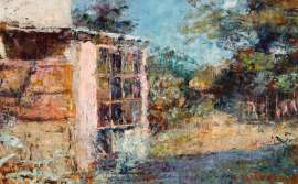 The Garden Window (also known as The McCubbins' Garden Cottage, Fontainebleau, at Mount Macedon) by FREDERICK McCUBBIN