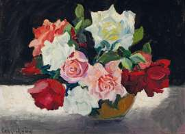 Bowl of Roses by ETHEL CARRICK FOX