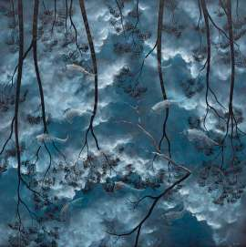 Fish and Storm Clouds (Guyi Na Ngawalngawal) by LIN ONUS