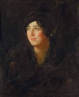 Portrait of Miss C (Alice Crawford) by TOM ROBERTS