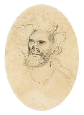 Portrait Study of a Male (Aboriginal Hunting) by THOMAS BALCOMBE