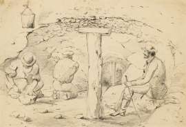 Study of Three Men in a Mine by THOMAS BALCOMBE
