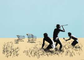Trolleys by BANKSY
