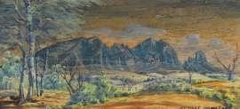 Mount Sonder by ALBERT NAMATJIRA