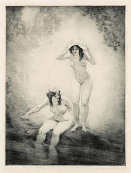 The Pool by NORMAN LINDSAY