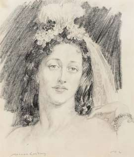 The Feathered Headpiece by NORMAN LINDSAY