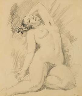 Untitled (Nude) by NORMAN LINDSAY