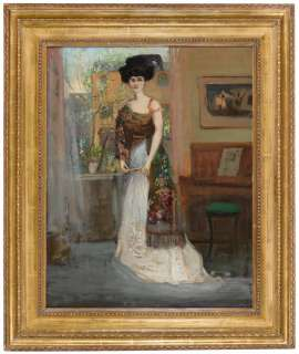 The Spanish Shawl (Portrait of Annie Cecil Lawson) by CHARLES CONDER