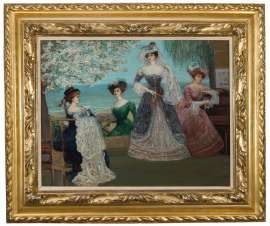 The Verandah: Baroness A. de Meyer and Friends by CHARLES CONDER