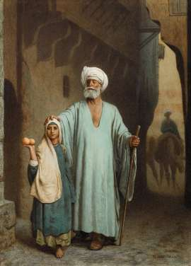 The Blind Beggar by Attributed to JEAN-LÉON GÉRÔME