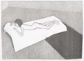 Nude with Shag Rug by JOHN BRACK