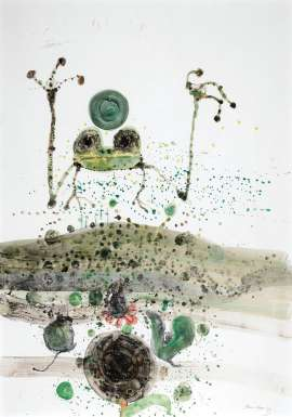 Frog in a Pond by JOHN OLSEN