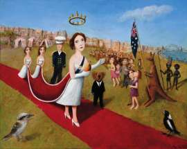 The Queen in Australia by GARRY SHEAD