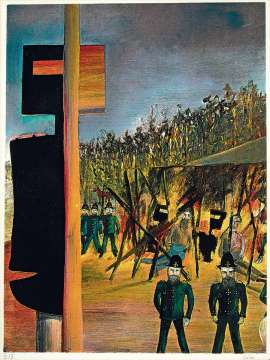 Burning at Glenrowan (Ned Kelly series) by SIDNEY NOLAN