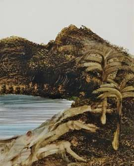 On the Black Wide Palms and Hills by SIDNEY NOLAN