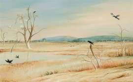 Irrigation Lake, Wimmera by ARTHUR BOYD