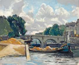 Barges on the Seine by WILL ASHTON