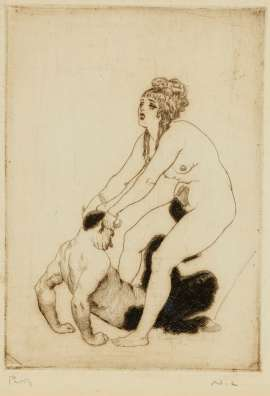 The Struggle by NORMAN LINDSAY