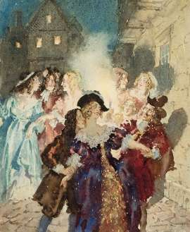 Midnight Revellers by NORMAN LINDSAY